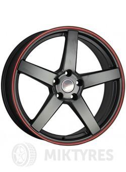 Диски LegeArtis Concept TY504 7x18 5x114.3 ET 42 Dia 60.1 (Черный матовый с красной полосой на ободе)