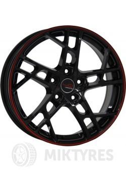 Диски LegeArtis Concept NS533 6,5x16 5x114,3 ET 40 Dia 66,1 (Черный с красной полосой на ободе)