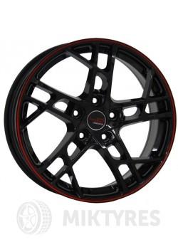 Диски LegeArtis Concept RN524 6.5x15 5x114.3 ET 43 Dia 66.1 (Черный с красной полосой на ободе)
